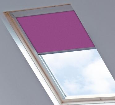 Dakraamgordijn voor Roto 649 7/11, Dark Pink, Verduisterend - Speciale kleur