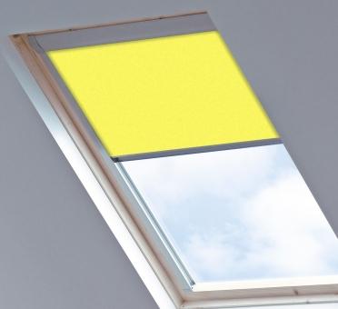 Dakraamgordijn voor Roto 649 7/11, Canary Yellow, Lichtdoorlatend - Speciale kleur